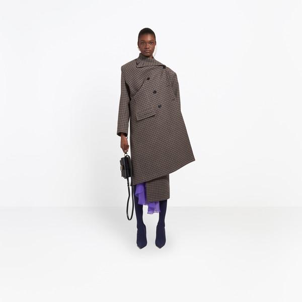 BALENCIAGA Coats D Pulled Double Breasted Coat g
