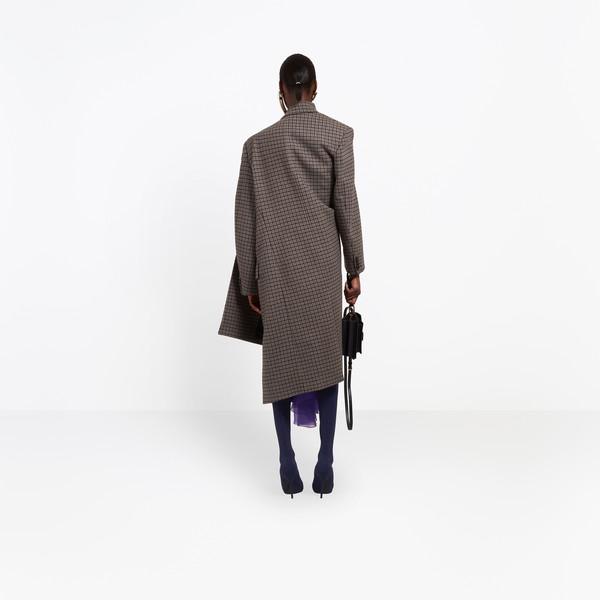 BALENCIAGA Coats D Pulled Double Breasted Coat h