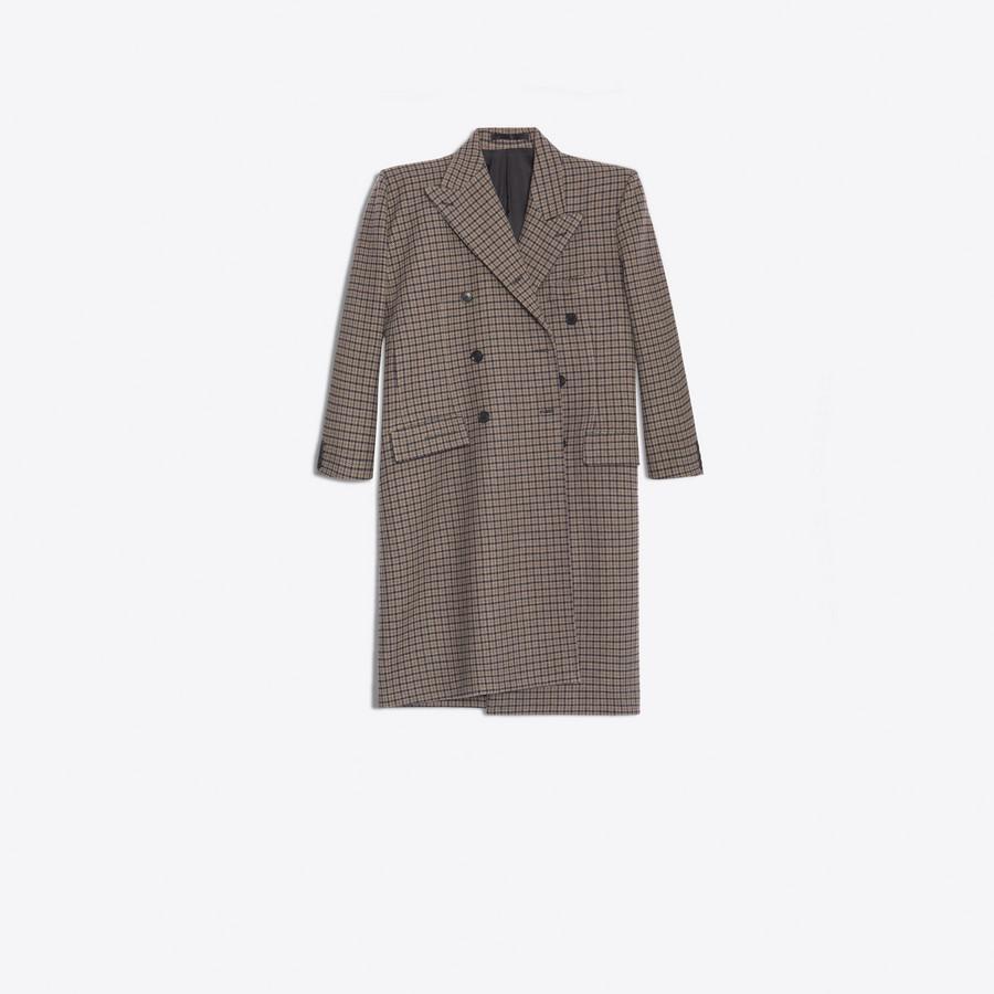 BALENCIAGA Pulled Double Breasted Coat Coats D f