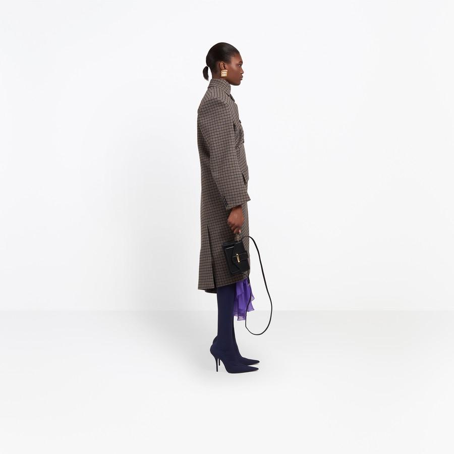 BALENCIAGA Pulled Double Breasted Coat Coats D i