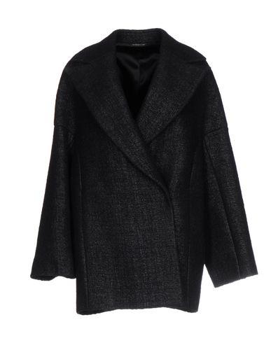 Фото - Женское пальто или плащ  темно-синего цвета