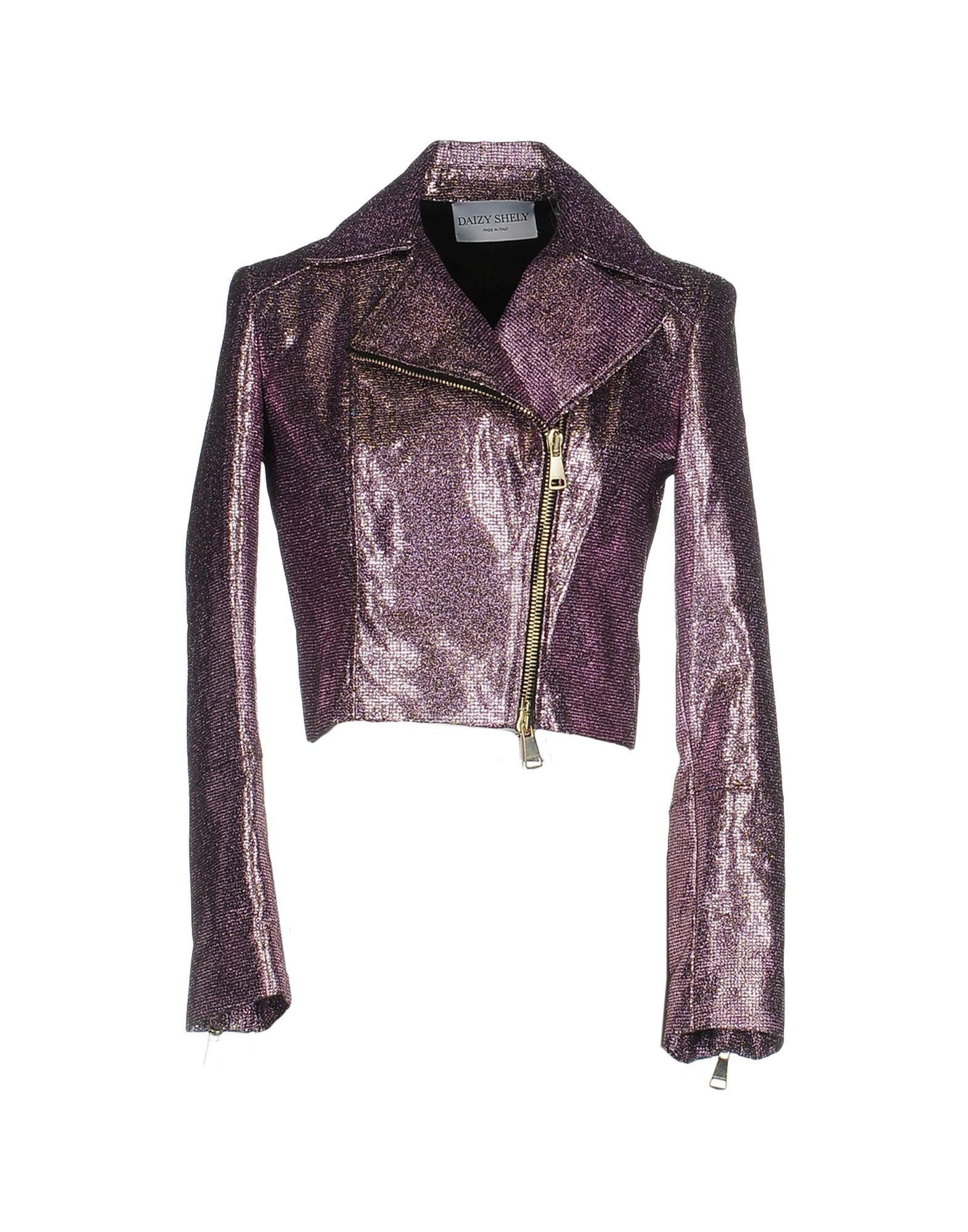 DAIZY SHELY Biker Jacket in Light Purple