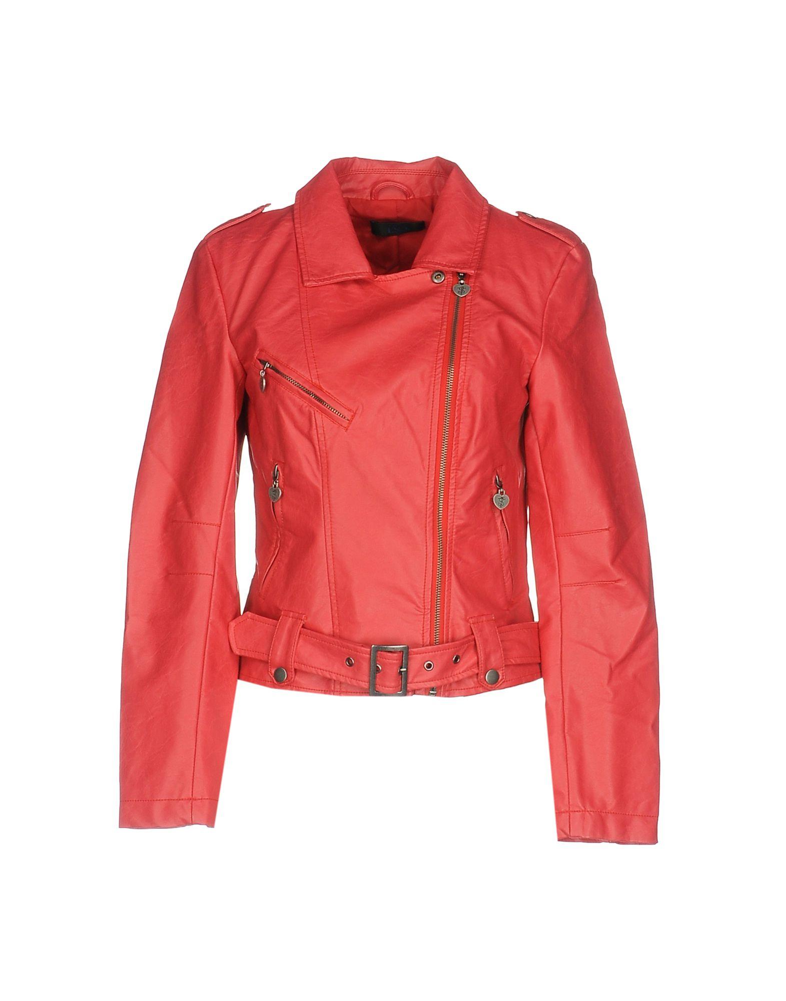 TWIN-SET JEANS Biker Jacket in Red