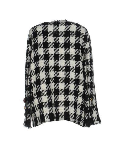 Фото 2 - Женское пальто или плащ  черного цвета