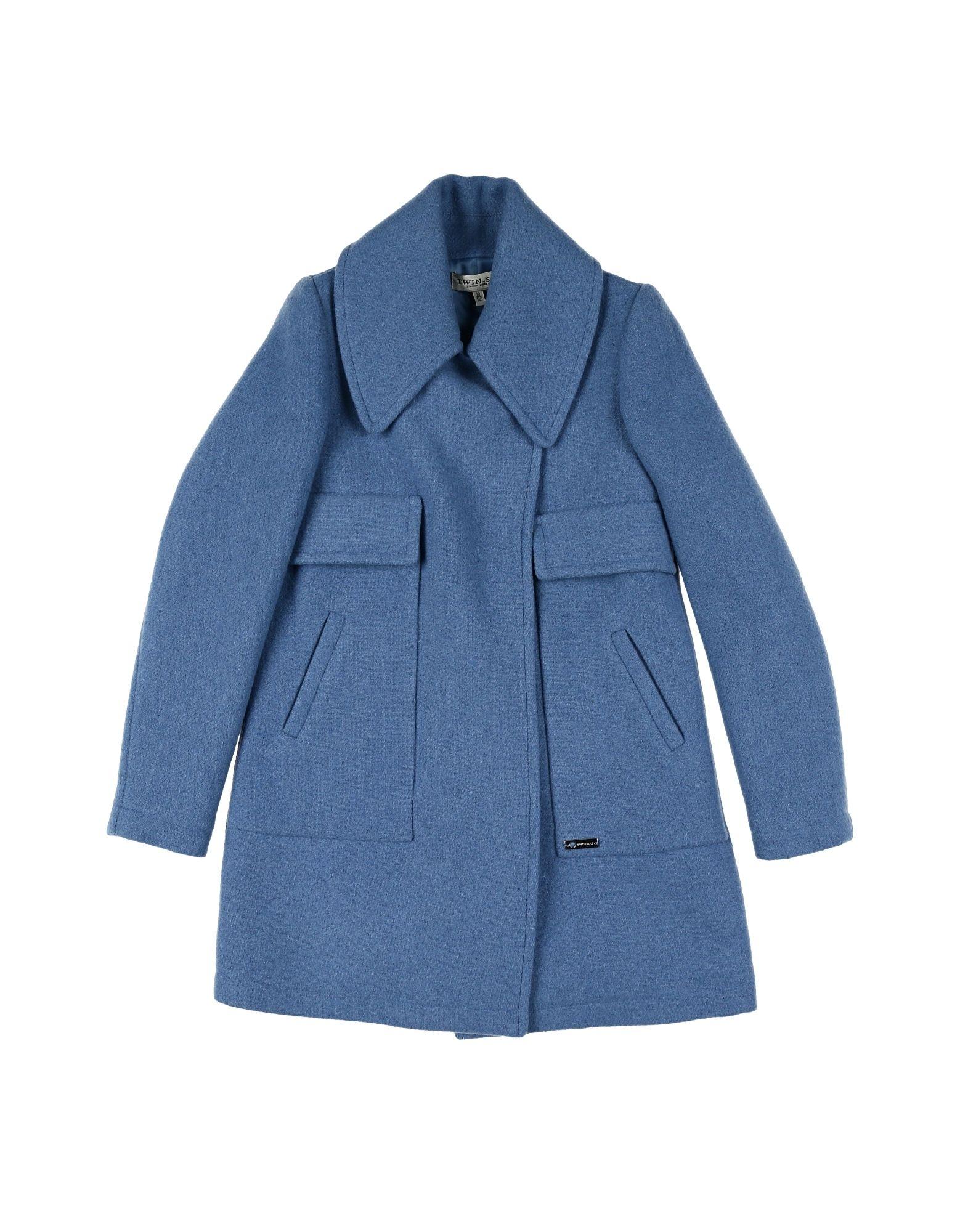 TWIN-SET Simona Barbieri Mädchen 9-16 jahre Mantel Farbe Blau Größe 6