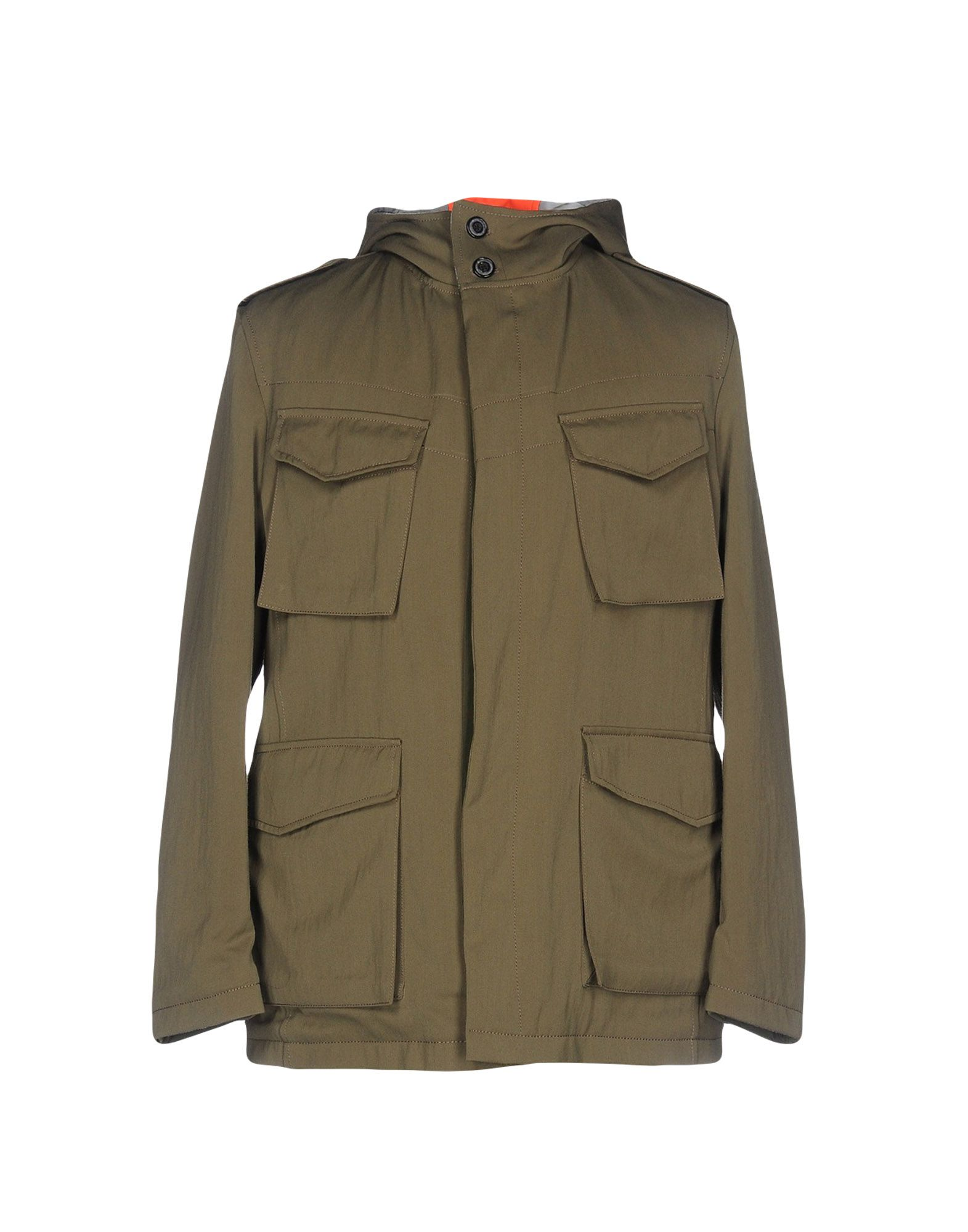 WOOSTER + LARDINI Jacket in Military Green