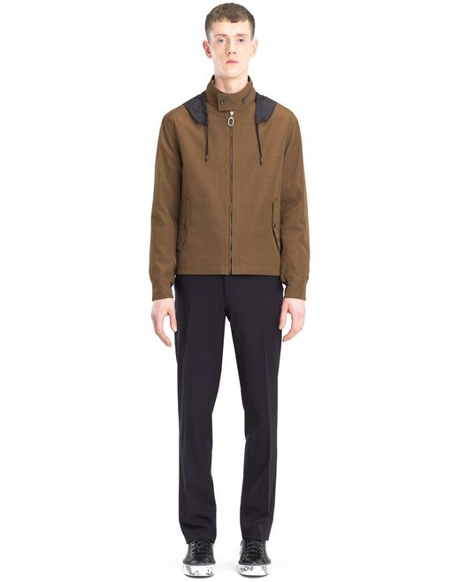 lanvin hooded windbreaker men