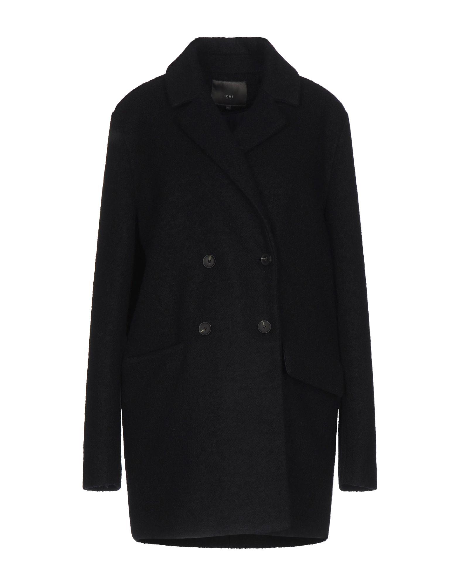 ICHI Пальто полуприлегающее пальто с ветрозащитным клапаном snowimage