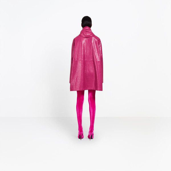 BALENCIAGA Coats Woman Leather Windbreaker  h