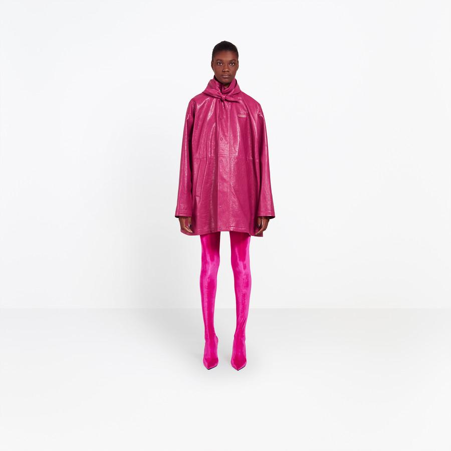 BALENCIAGA Leather Windbreaker  Coats Woman f