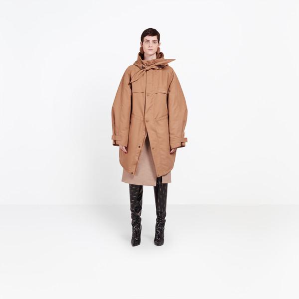 BALENCIAGA Coats Woman Scarf Parka g