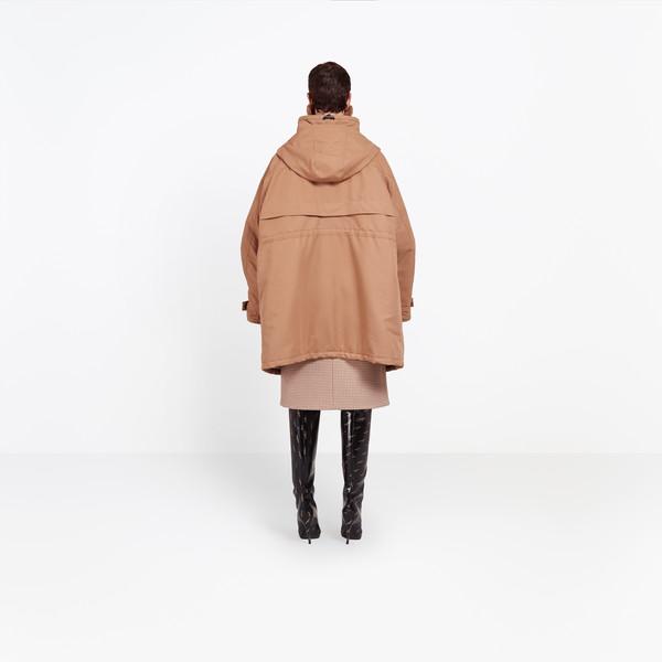 BALENCIAGA Coats Woman Scarf Parka h