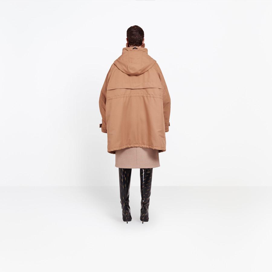 BALENCIAGA Scarf Parka Coats Woman d