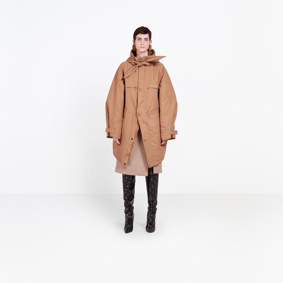 BALENCIAGA Scarf Parka Coats Woman f