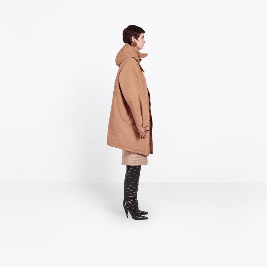 BALENCIAGA Scarf Parka Coats Woman i