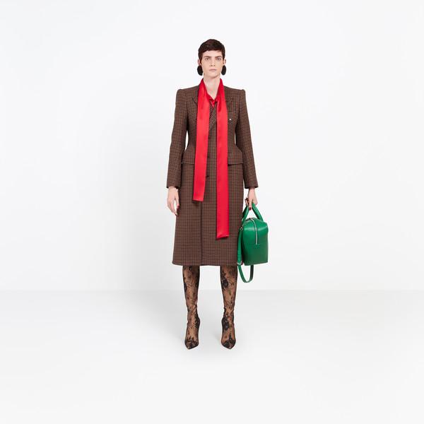 BALENCIAGA Coats D Hourglass Double Breasted Coat g