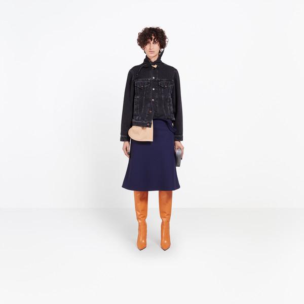 BALENCIAGA Jacket Woman Scarf Denim Jacket g