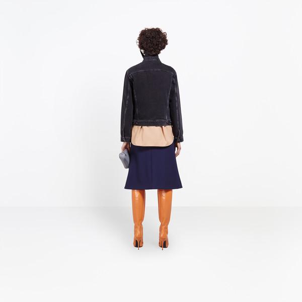 BALENCIAGA Jacket Woman Scarf Denim Jacket h