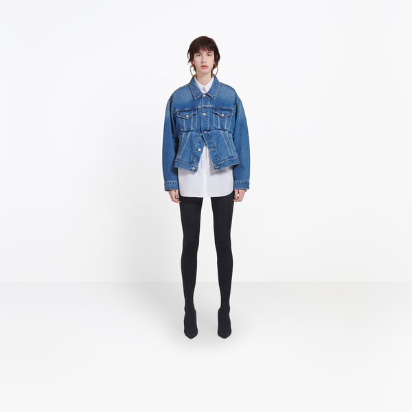 BALENCIAGA Denim Woman Swing Denim Jacket g