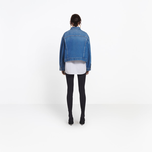 BALENCIAGA Denim Woman Swing Denim Jacket h