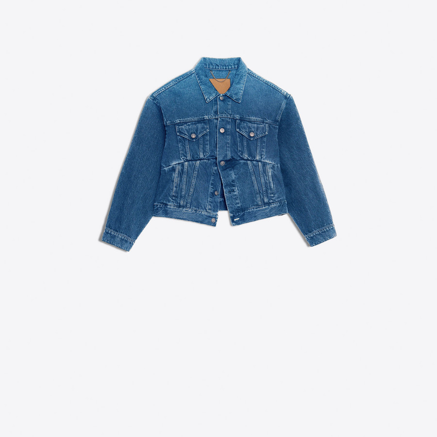 BALENCIAGA Swing Denim Jacket Denim Woman f
