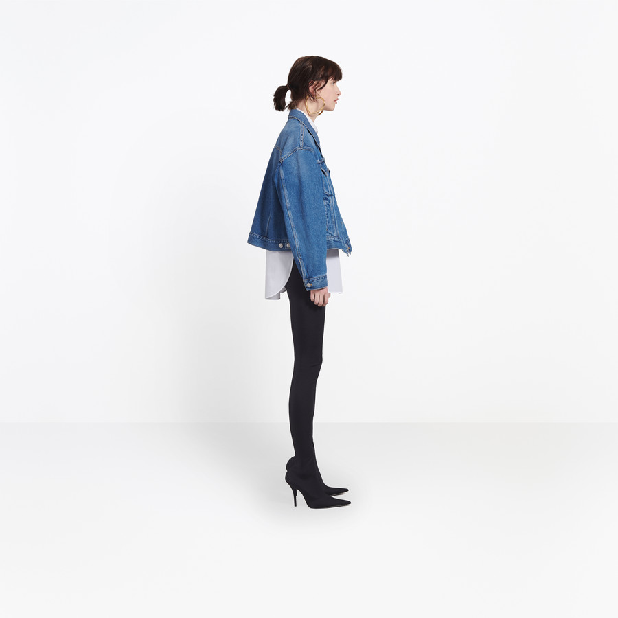BALENCIAGA Swing Denim Jacket Denim Woman i