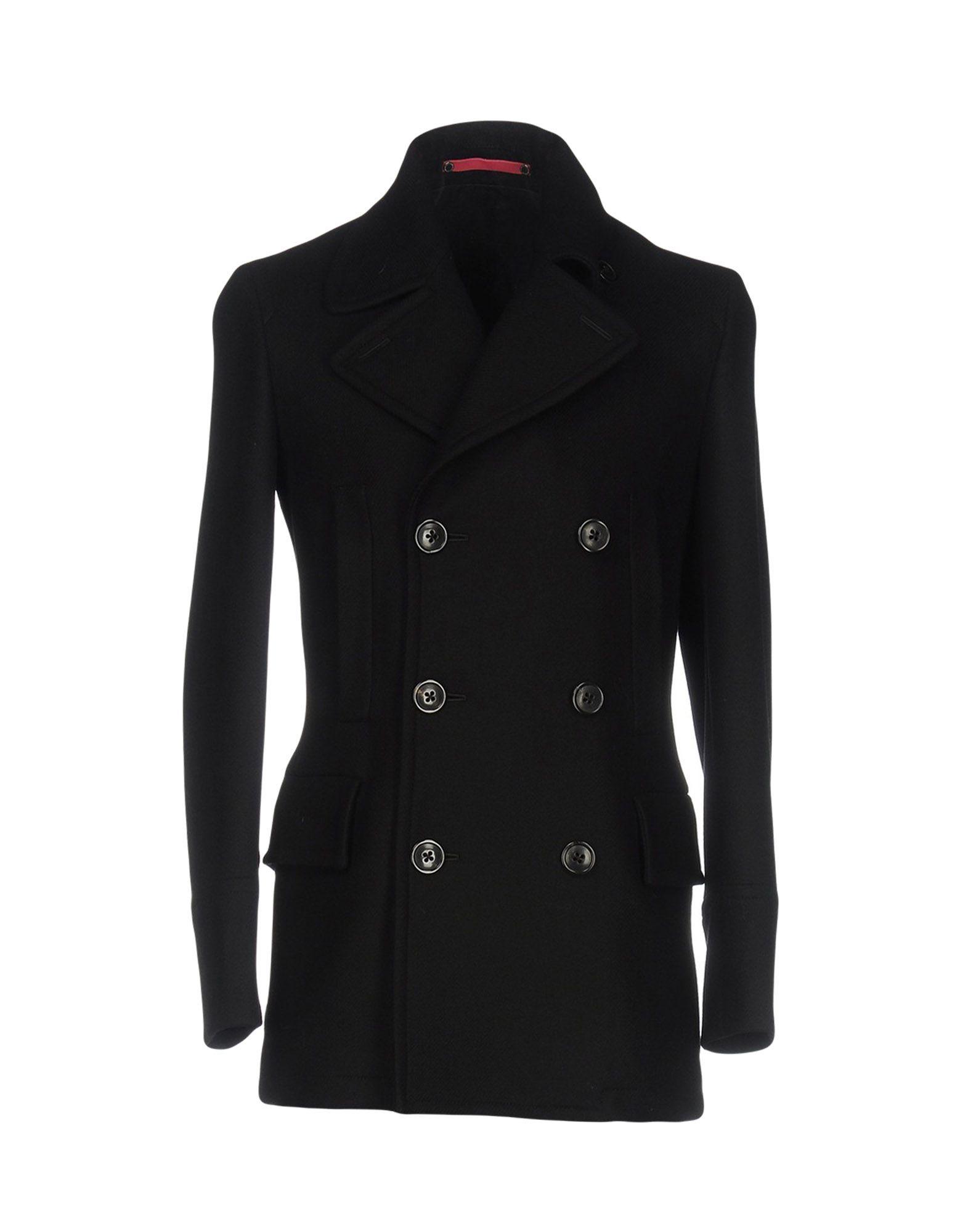 PS PAUL SMITH Пальто полуприлегающее пальто с натуральным мехом visconf