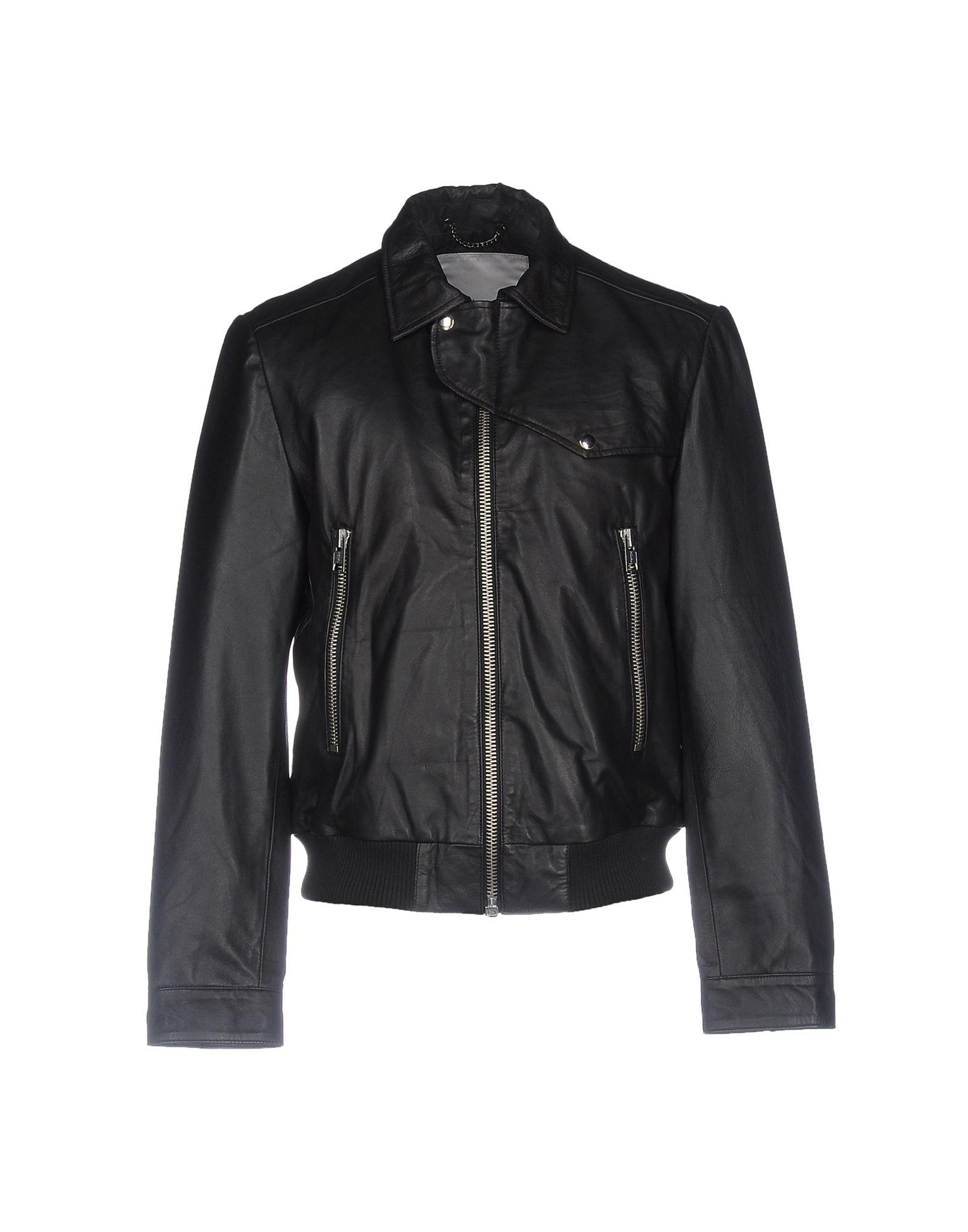 《送料無料》BOLONGARO TREVOR メンズ ブルゾン ブラック S 羊革(ラムスキン) 100%
