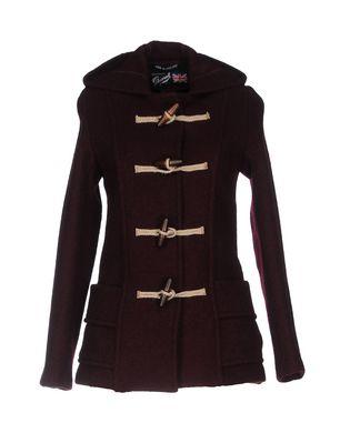 Graustein Angebote GLOVERALL Damen Mantel Farbe Pflaume Größe 10