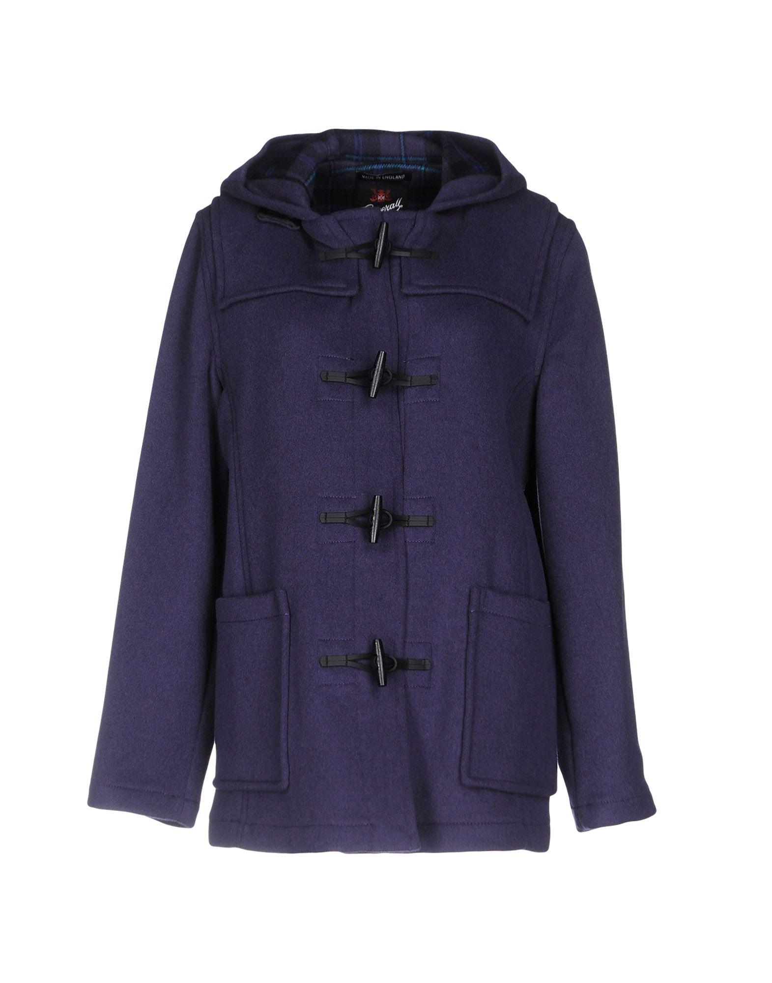 GLOVERALL Coat in Purple