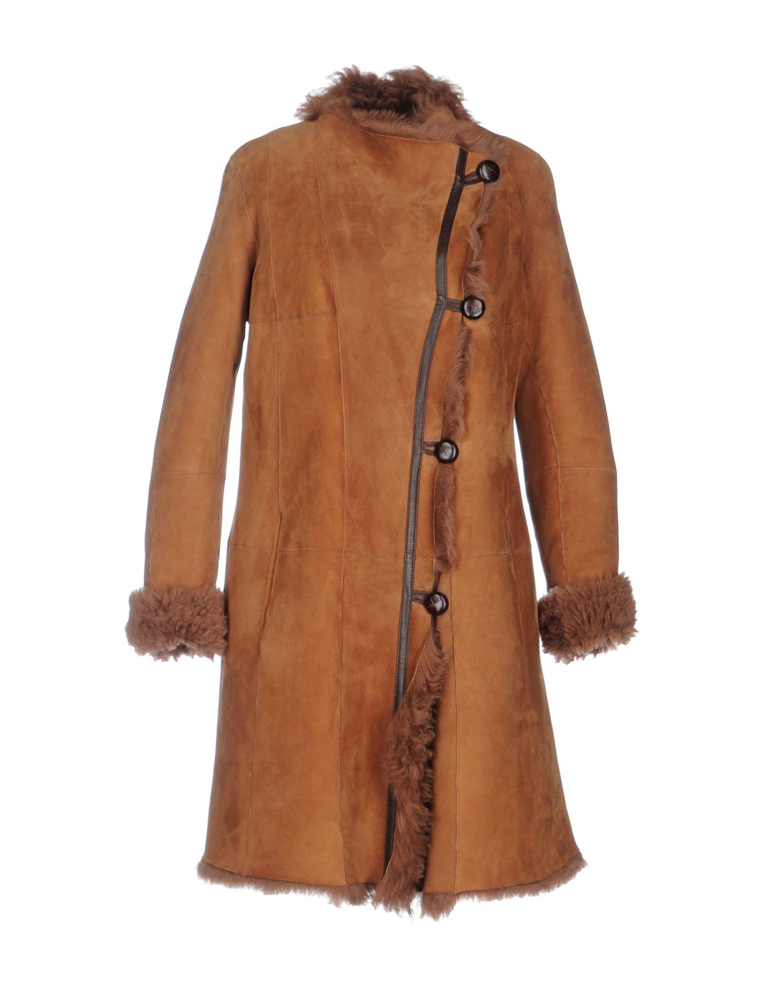 PHILOSOPHY di LORENZO SERAFINI Damen Mantel Farbe Braun Größe 4 - broschei