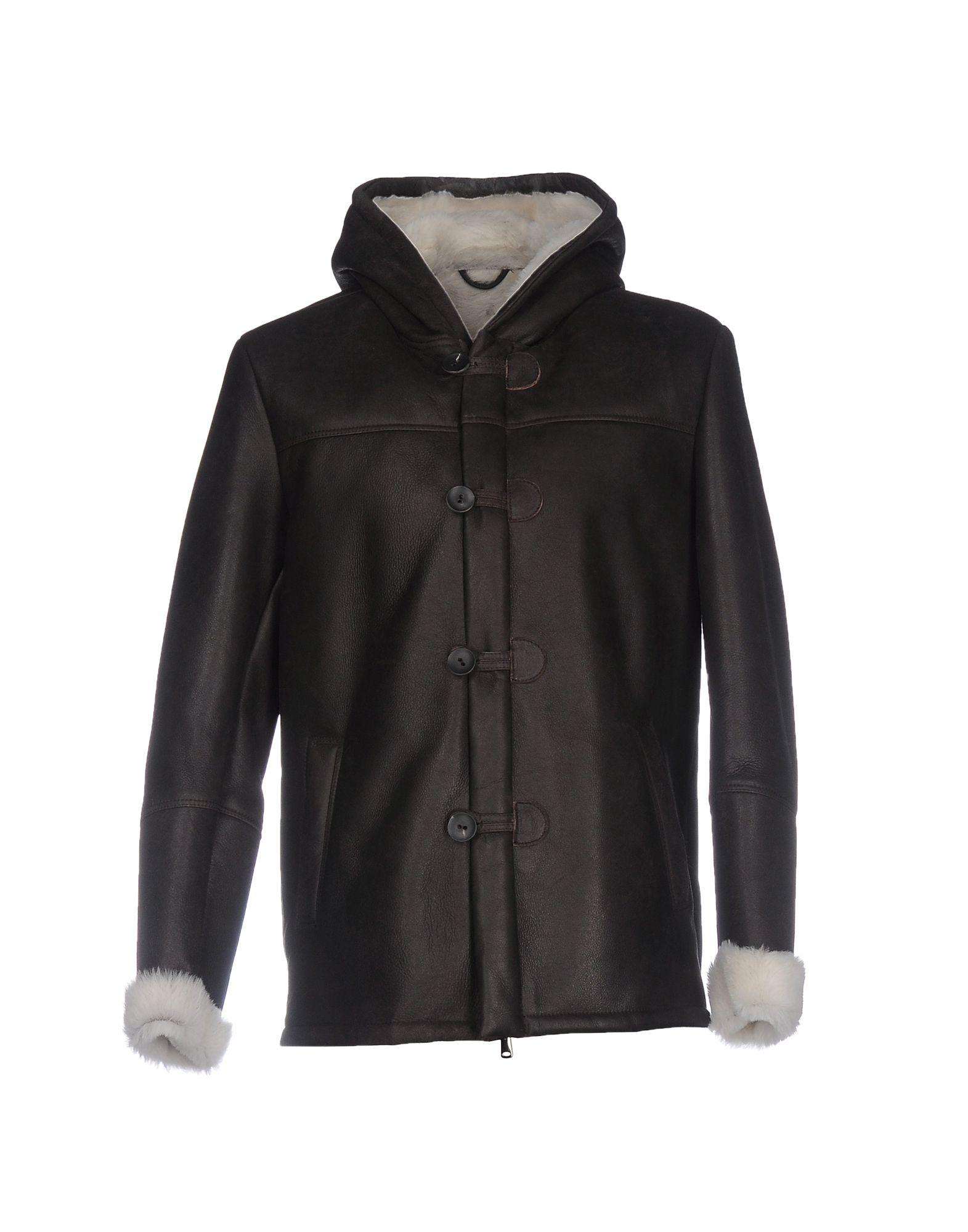 OLIVIERI Herren Jacke Farbe Dunkelbraun Größe 5 - broschei