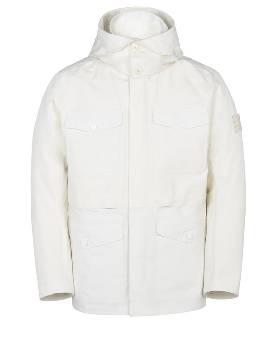 STONE ISLAND Mittellange Jacke 42129 GHOST PIECE_TANK SHIELD FEATURING MULTI LAYER FUSION TECHNOLOGY WITH DETACHABLE LINING