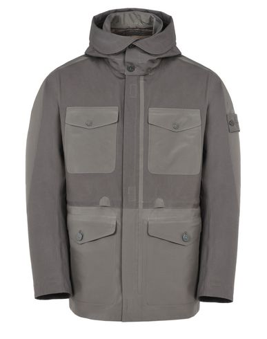 STONE ISLAND Mid-length jacket 42129 GHOST PIECE_TANK SHIELD FEATURING MULTI LAYER FUSION TECHNOLOGY WITH DETACHABLE LINING
