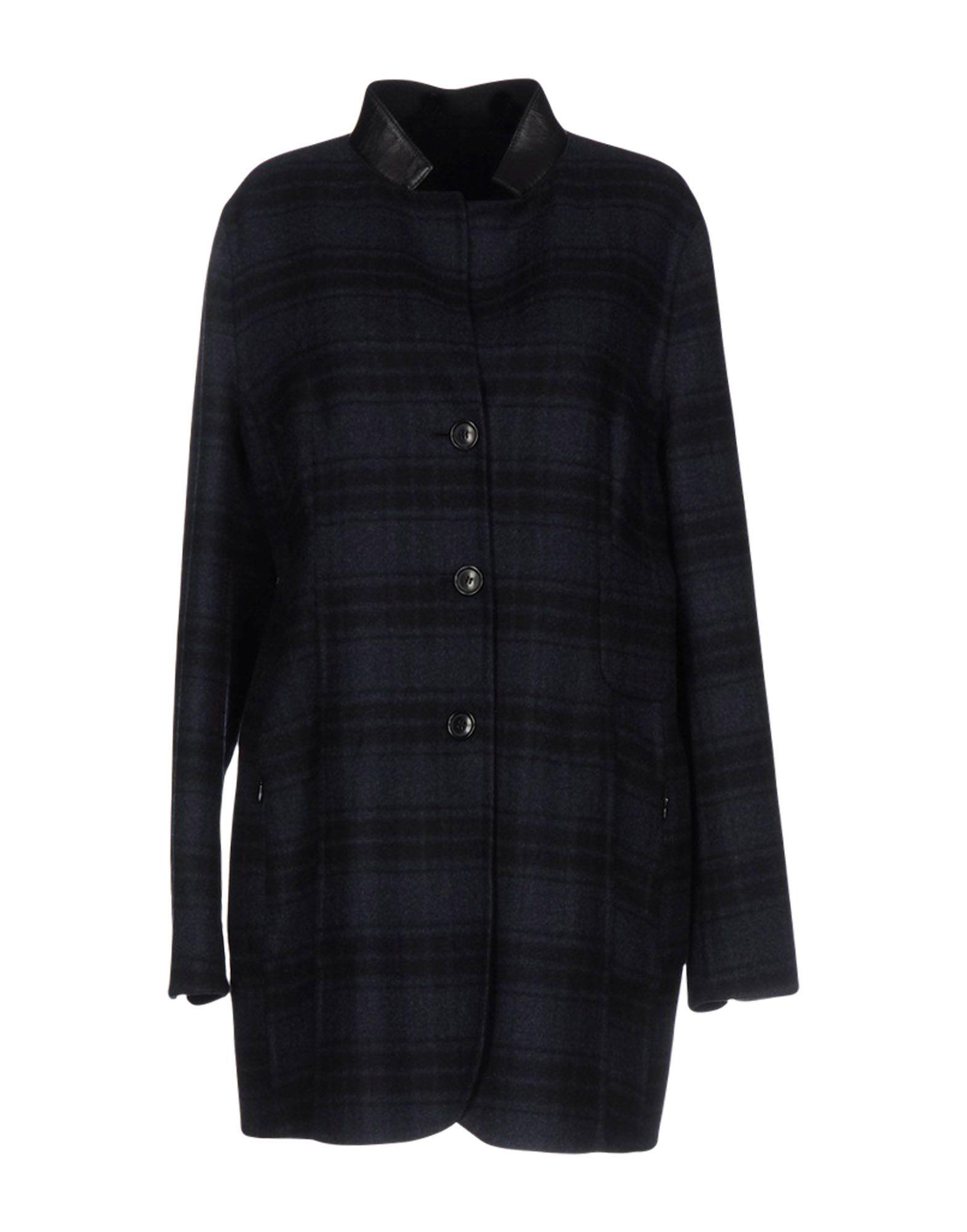 AKRIS Damen Lange Jacke Farbe Dunkelblau Größe 7 - broschei