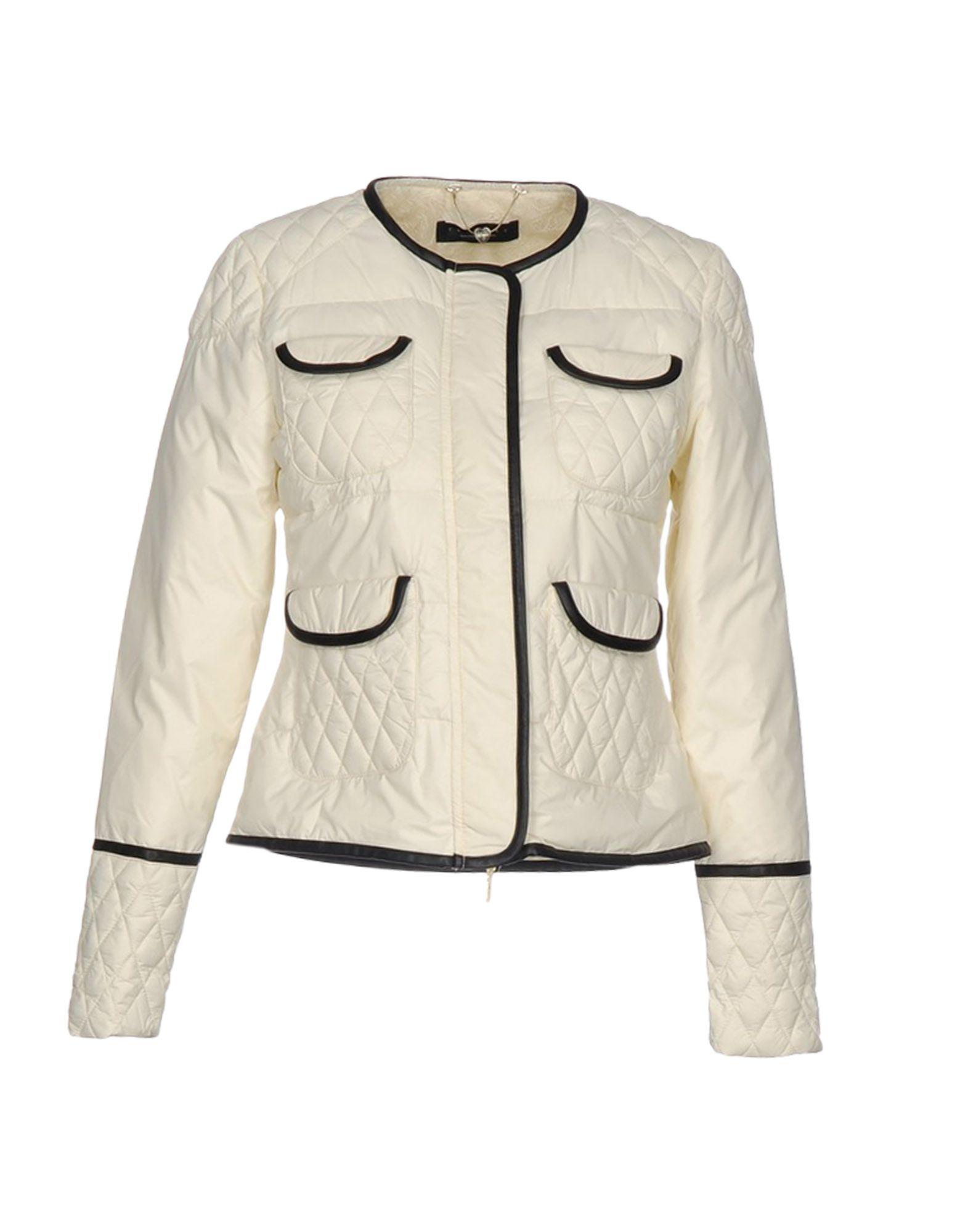 TWIN-SET Simona Barbieri Damen Jacke Farbe Elfenbein Größe 3 - broschei