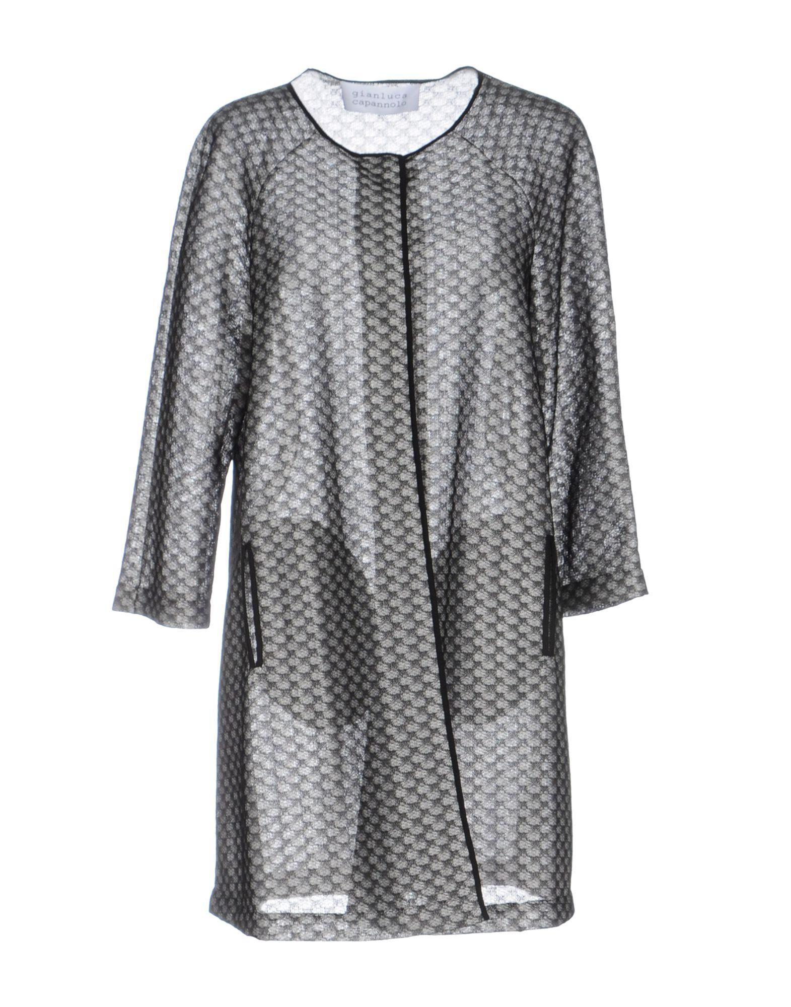 GIANLUCA CAPANNOLO Damen Lange Jacke Farbe Grau Größe 4 - broschei