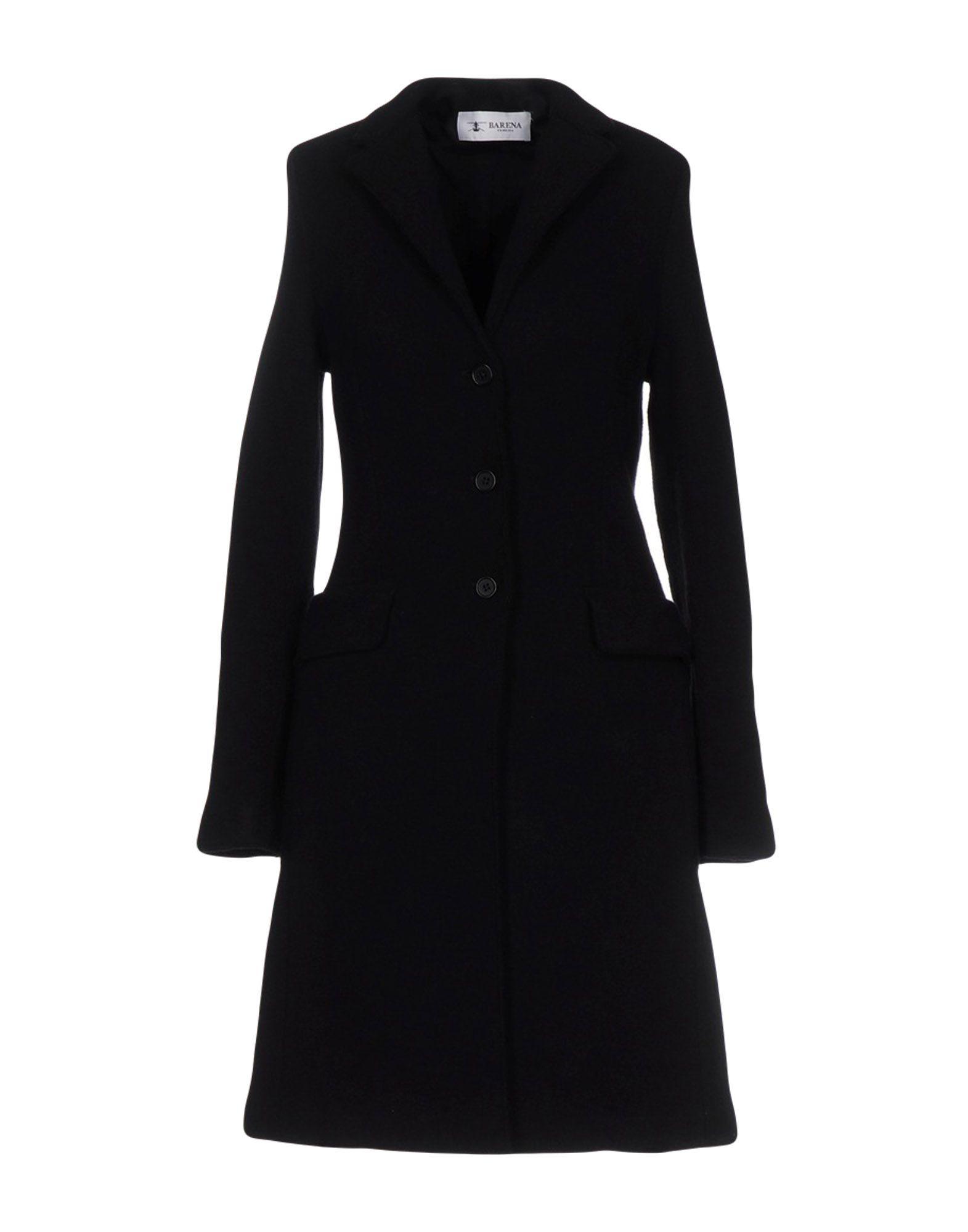 BARENA Damen Lange Jacke Farbe Schwarz Größe 5 - broschei