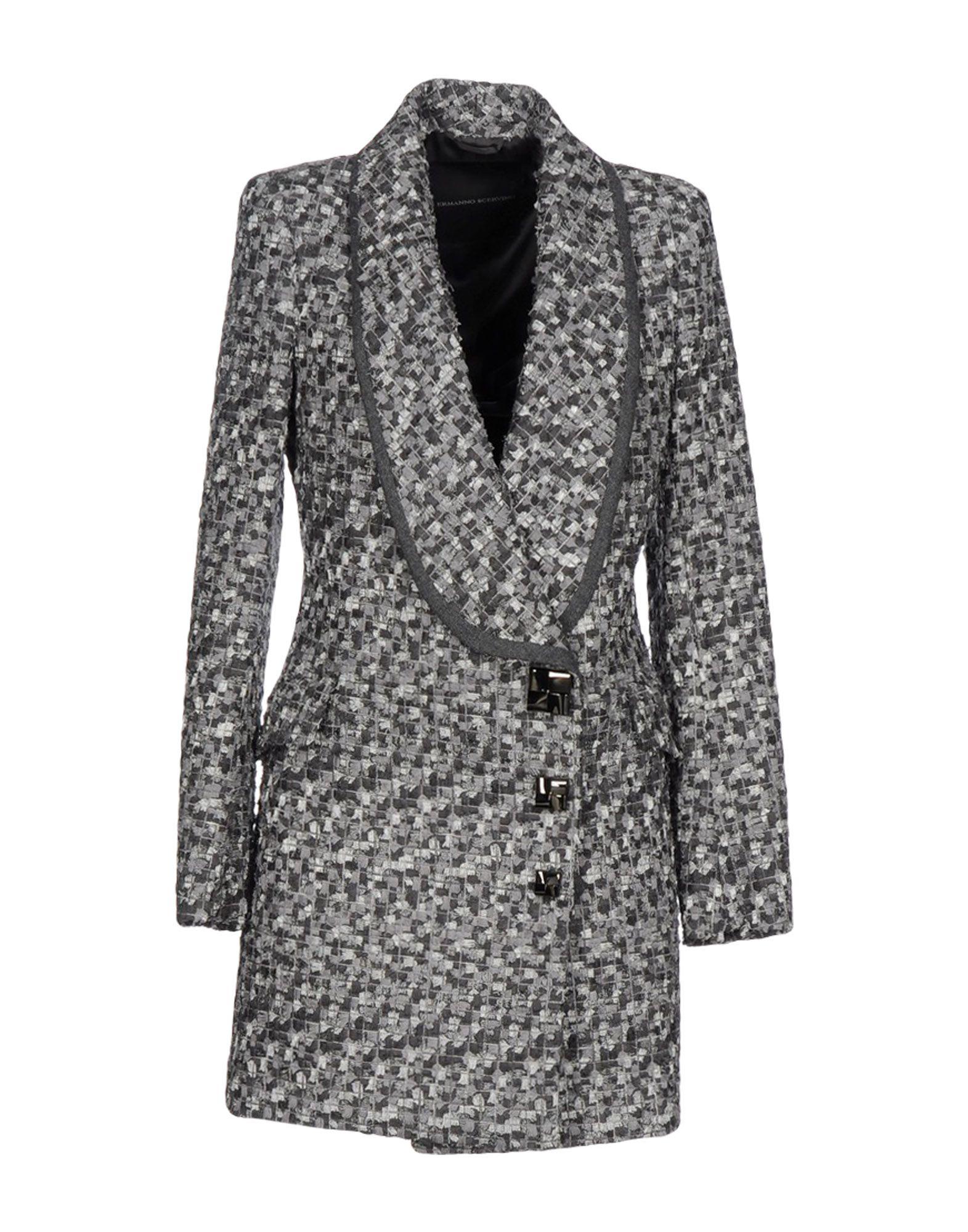 ERMANNO SCERVINO Damen Mantel Farbe Grau Größe 5 - broschei