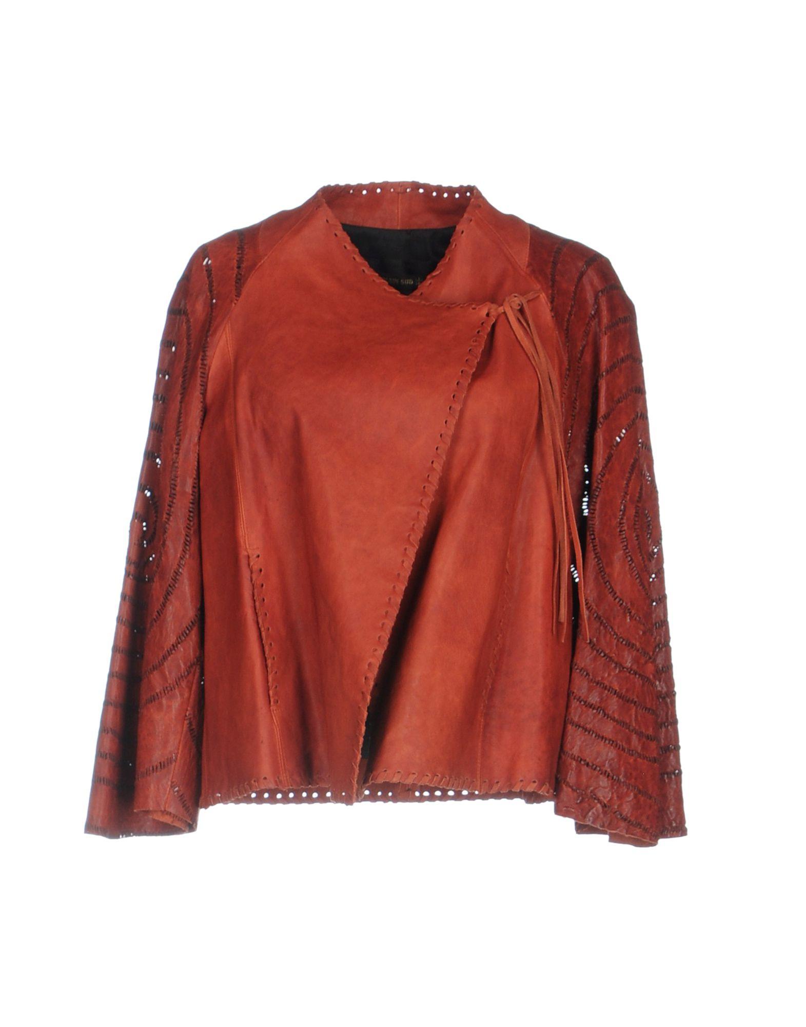 PLEIN SUD Damen Jacke Farbe Ziegelrot Größe 5 - broschei