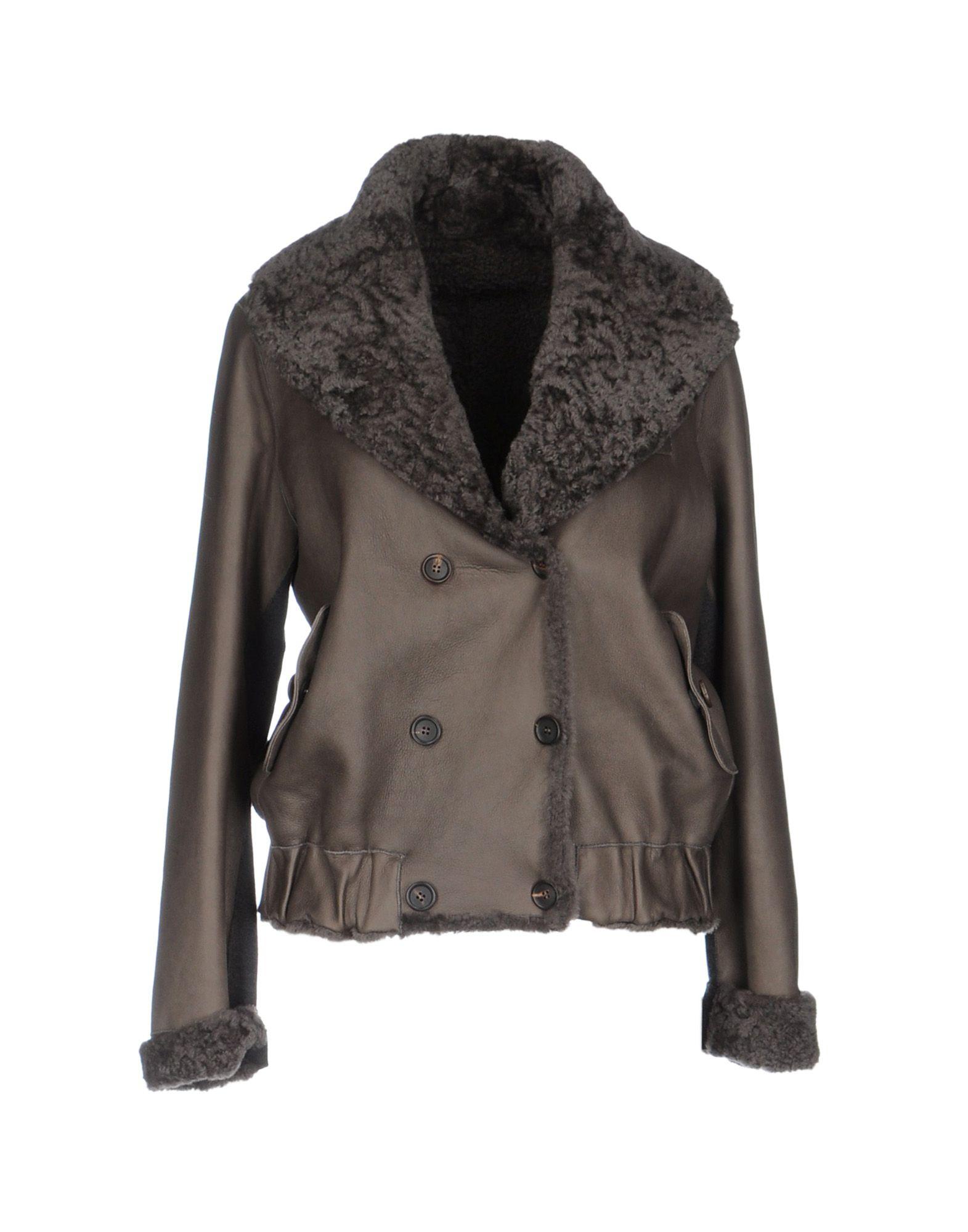 BRUNELLO CUCINELLI Damen Jacke Farbe Blei Größe 5 - broschei