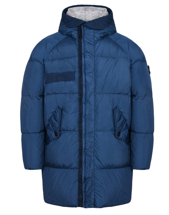 STONE ISLAND LONG JACKET 70223 GARMENT DYED CRINKLE REPS NY DOWN