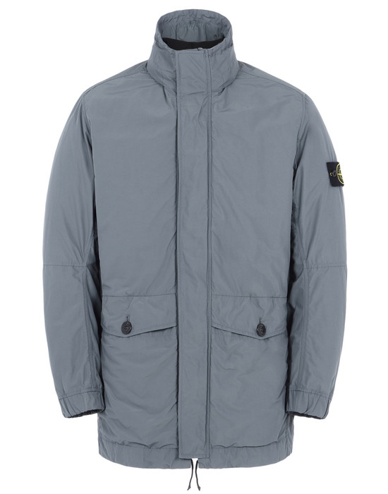 Mid-length jacket 40826 MICRO REPS<br>INSIDE, REVERSIBLE BOMBER IN NYLON/PILE/PRIMALOFT® STONE ISLAND - 0