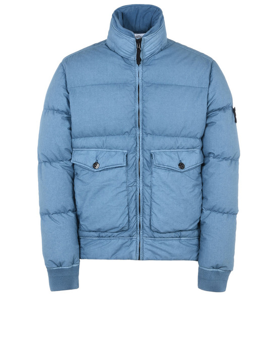 STONE ISLAND Mid-length jacket 43235 RESIN POPLIN DOWN-TC