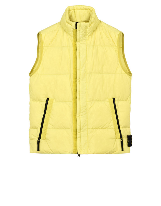 STONE ISLAND Waistcoat G0223 GARMENT DYED CRINKLE REPS NY DOWN