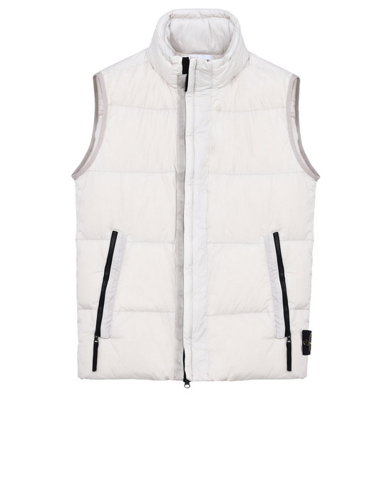 STONE ISLAND Vest G0223 GARMENT DYED CRINKLE REPS NY DOWN