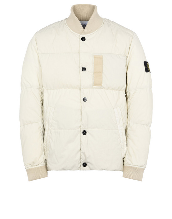 STONE ISLAND Mid-length jacket 44534 MUSSOLA GOMMATA VELOUR DOWN TC