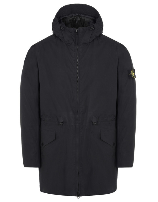 STONE ISLAND Mid-length jacket 42325 WATER REPELLENT SUPIMA COTTON WITH PRIMALOFT® INSULATION TECHNOLOGY