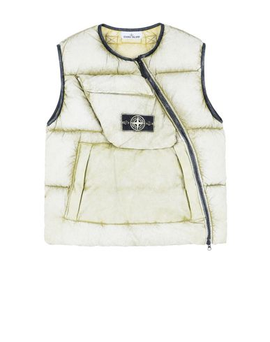 STONE ISLAND Waistcoat G0453 TELA NYLON DOWN WITH DUST COLOUR FROST FINISH