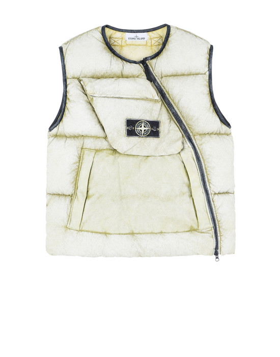 STONE ISLAND Gilet G0453 TELA NYLON DOWN WITH DUST COLOUR FROST FINISH